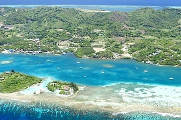 Roatan in the Bay Islands - Aerial