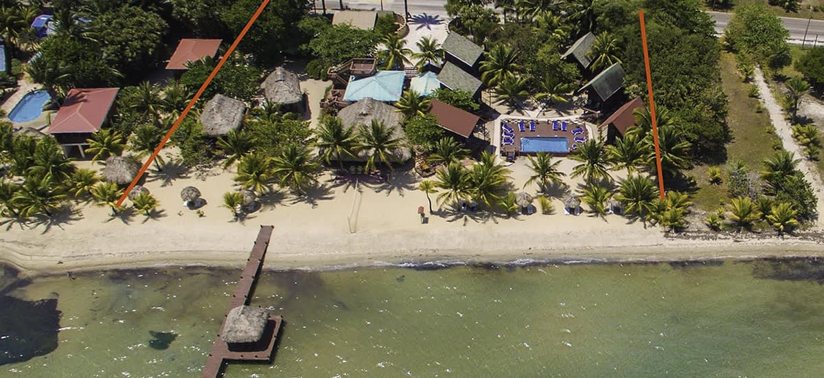 Beachfront hotel for sale in Belize