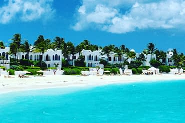 Anguilla with view of the beach and the Caribbean Sea