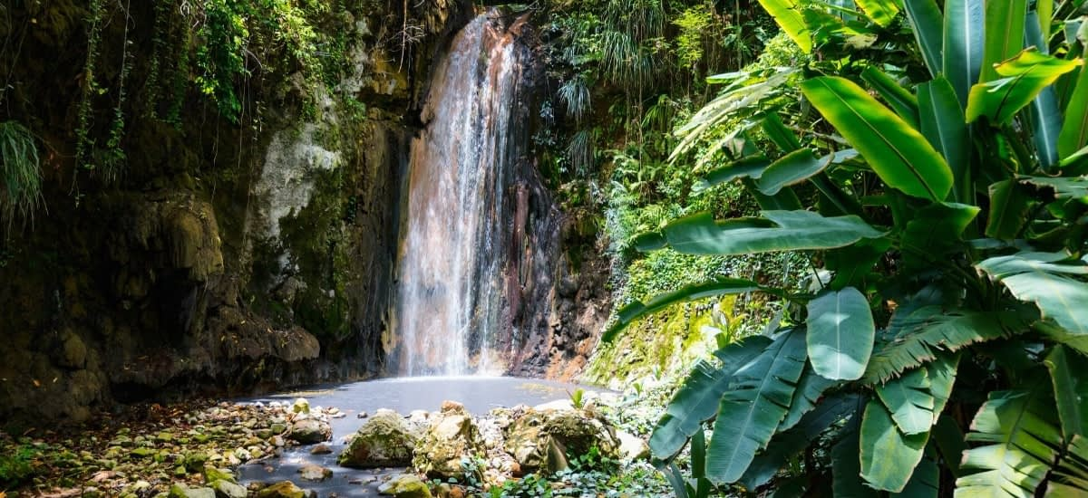 Retire in St Lucia and enjoy breathtaking scenery such as the Diamond Waterfall every day
