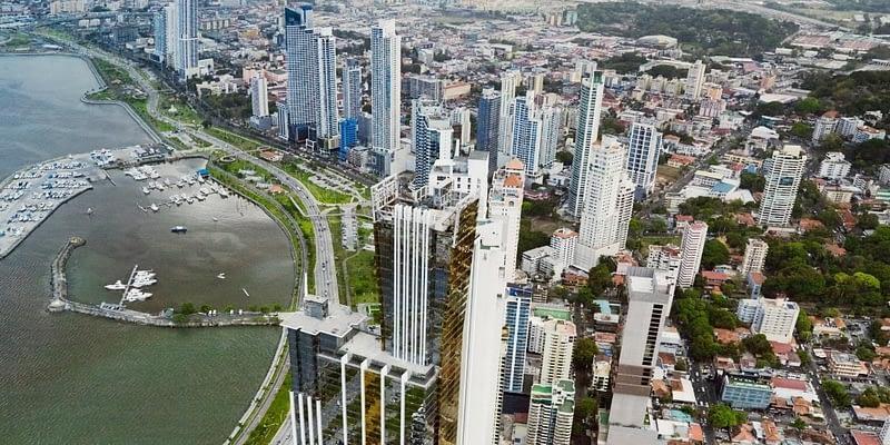 Aerial view of Panama City