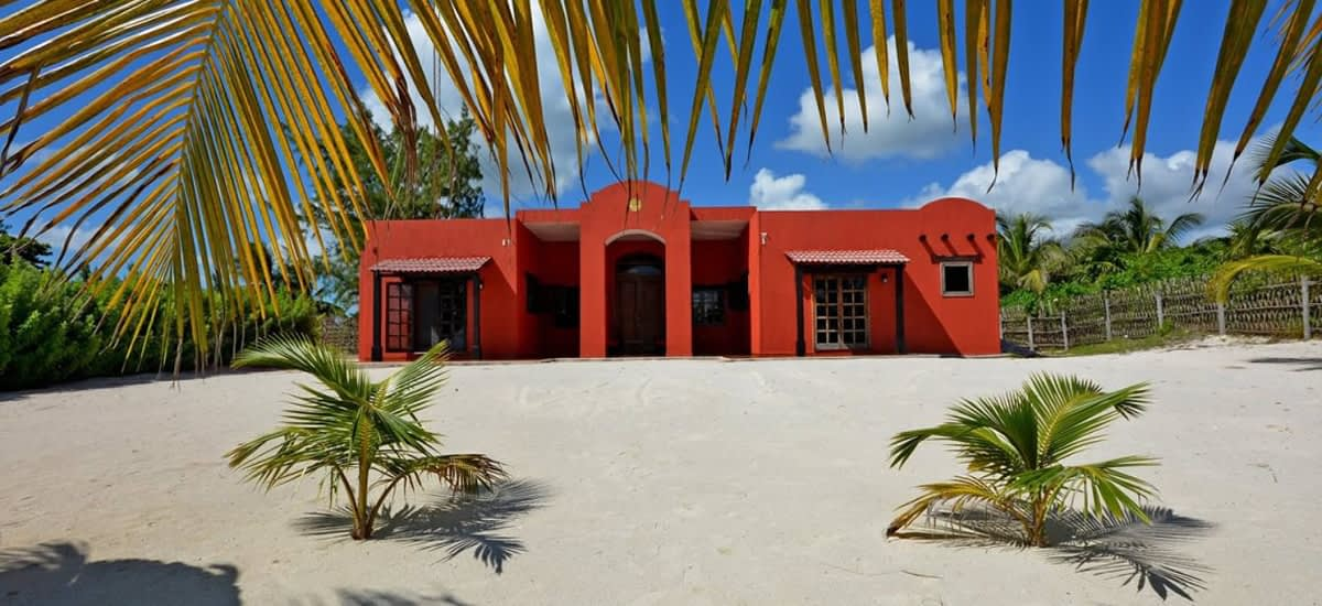 Beachfront home for sale in Mexico