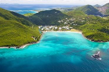 Aerial view of St Maarten