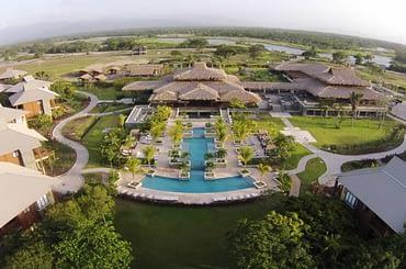 Homes for sale, Tela Bay, Atlantida, Honduras - aerial