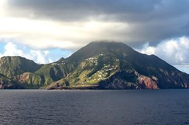 Saba island in the Caribbean