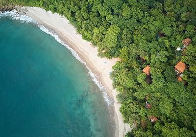 Beautiful beach in Nicaragua - aerial view