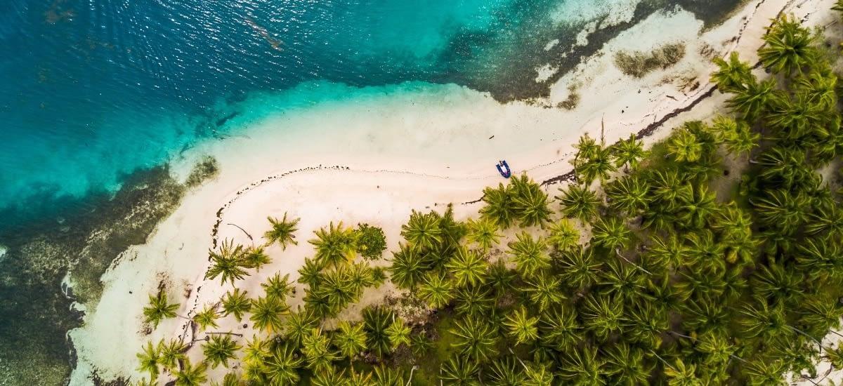 The Caribbean coast of Panama