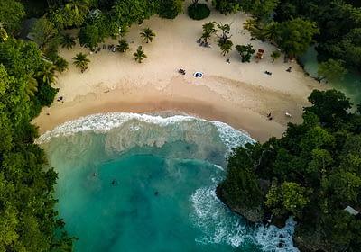 Beach in Jamaica - aerial view