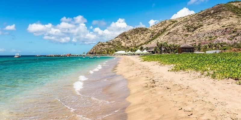 Beautiful beach in St Kitts