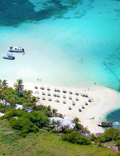 Beautiful beach in St Maarten