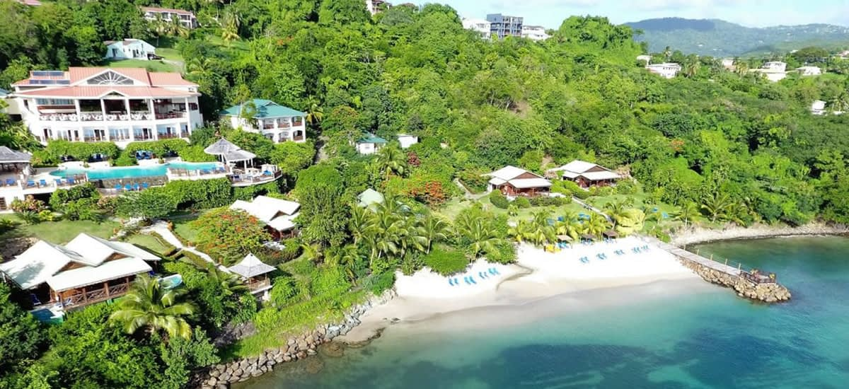Beachfront resort for sale in St Lucia
