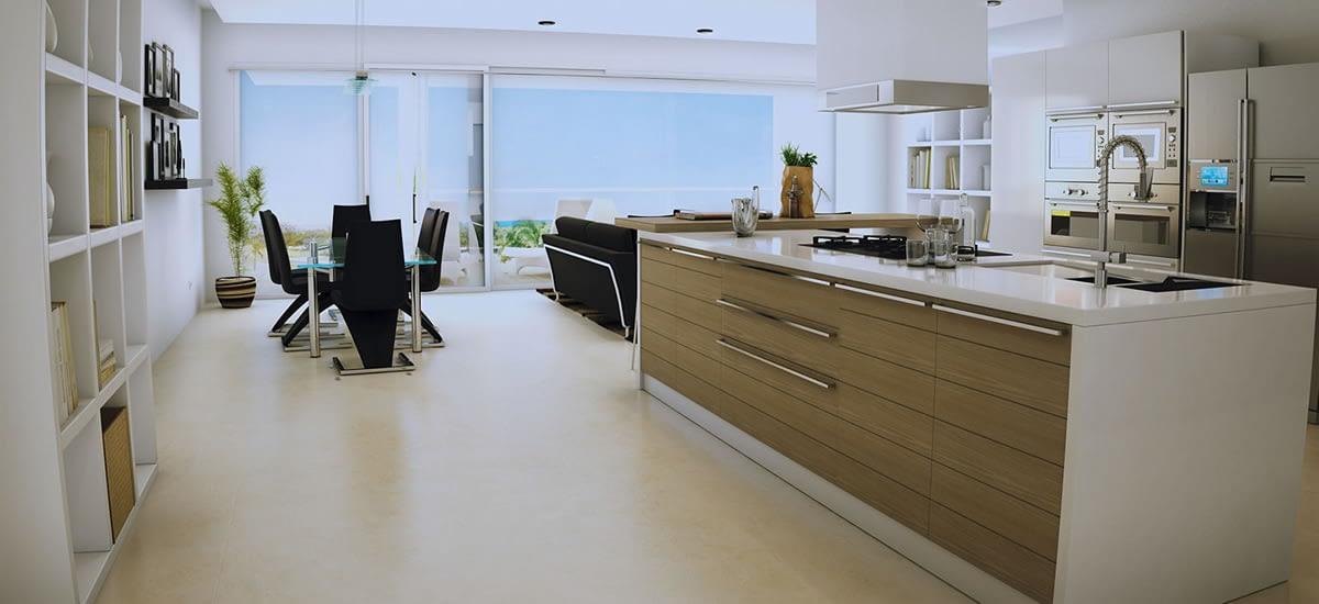Stunning open plan, contemporary kitchens