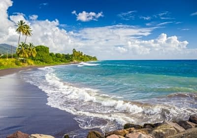 Beach in St Kitts & Nevis