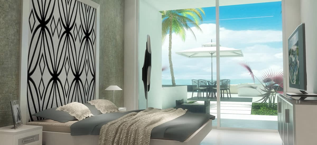 Light and airy bedrooms