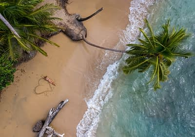 Woman on a beach in Costa Rica